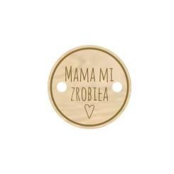 Metka drewniana Mama mi...