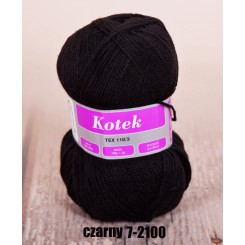 Kotek czarny 7-2100 100g/300m