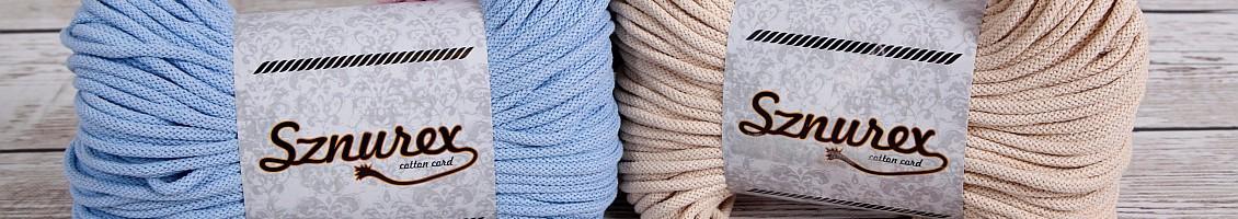 Sznurki bawełniane plecione