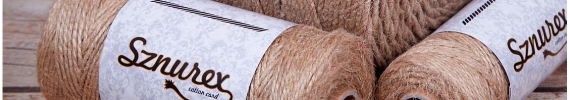 Sznurki jutowe w szerokiej gamie grubości od 1 mm do 5 mm. S